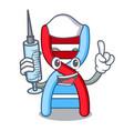 nurse dna molecule character cartoon vector image