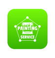 painting service icon green vector image