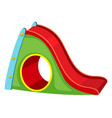 playground slide white background vector image vector image