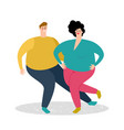 plump dancing couple vector image