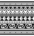 polynesian maori tattoo seamless geometric vector image