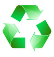 recycle symbol of conservation green icon vector image vector image