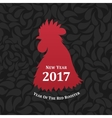 red rooster symbol of 2017 The emblem the vector image