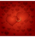 red Saint Valentines background vector image vector image