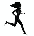 running woman silhouette vector image vector image