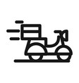 scooter transport box delivery cargo service vector image