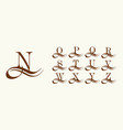 set 2 capital letters in style arabic vector image vector image