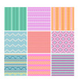 set of knitting fabrics vector image vector image