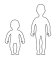 Silhouette child baby set vector image