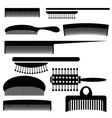 silhouettes of combs vector image vector image