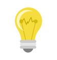 simple smart lightbulb vector image vector image