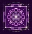 sree yantra sacred geometry vector image vector image