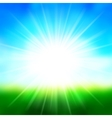 Summer Background Sky and Sun Light with Lens vector image vector image