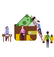 teamwork work people financial analyst vector image