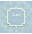 thank you postcard vector image vector image