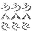 Tire trace road collection vector image