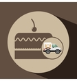 transport of cakes vector image vector image