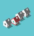 unique house home concept vector image vector image