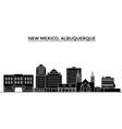 usa new mexico albuquerque architecture vector image