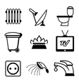 utilities icons vector image vector image