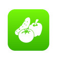 vegetables food icon green vector image vector image