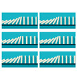 white dominoes animation sprite with blue back vector image
