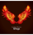 Wings And Flame vector image vector image