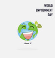 world environment day concept logo design vector image vector image