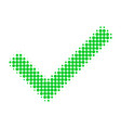 yes tick halftone dotted icon vector image