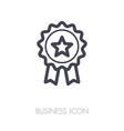 badge icon in trendy outline award symbol vector image