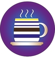 Flat icon for cafes with a cap and a plate vector image