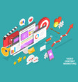 3d isometric conceptual of vector image vector image