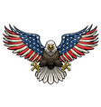 american flag painted bald eagle vector image