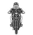 angry eagle head moto rider vector image vector image