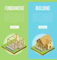 architectural engineering isometric 3d concept vector image