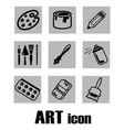 art icon supplies vector image vector image