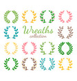 award wreaths set vector image