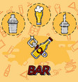 bar flat concept icons vector image vector image