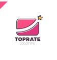best market rate logo or finance logotype vector image vector image