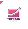best market rate logo or finance logotype with vector image vector image