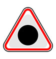 black hole sign triangular sticker vector image