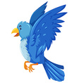 Blue bird spreading its wings vector image vector image