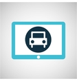 blue tablet cartoon car icon design vector image