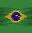 brazil flag brazil flag blowig in the wind eps 10 vector image