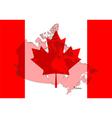 Canada map vector image vector image