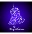 Christmas card Blue bell vector image vector image