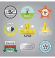 Cinema labels collection vector image vector image