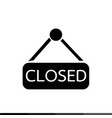 closed icon design vector image