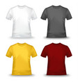 collection of colored tshirts template vector image