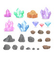 color crystals and minerals precious diamond vector image vector image